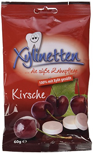 Xylinetten Xylitol-Bonbons Kirsche, 2er Pack (2 x 60 g)