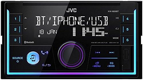 JVC Radio KWX830BT 2 DIN Bluetooth Spotify mit Einbauset für Mazda 3 (BK) 2003-2009