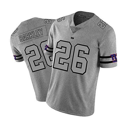 Camiseta de rugby para hombre, de Barkley # 26 Giants American Football Sportswear Bordado de tela Sudadera de tela para aficionados, edición deportiva, Neutral, Hombre, color color, tamaño L