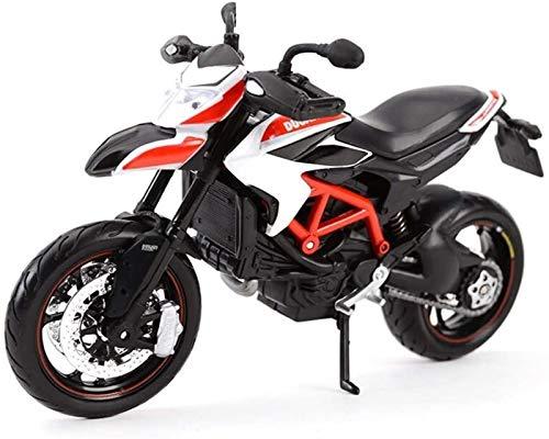 TONG Heavy Machine Road Racing Motocicleta del Modelo 1/12 de Juguetes de decoración, simulación (Color : A)