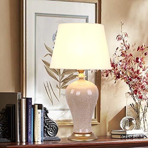 De enige goede kwaliteit Decoratie Nachtlampje Slaapkamer Lamp Gezellige Woonkamer Met Grote Keramische Vaas Tafellamp Amerikaanse stijl Keramische Tafellamp
