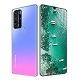 Beautyup P80pro Smartphone Huella Digital Bloqueo Facial Teléfono de 7.1 Pulgadas 12GB + 512GB 5600MAH Teléfono Barato (Color : Pink)