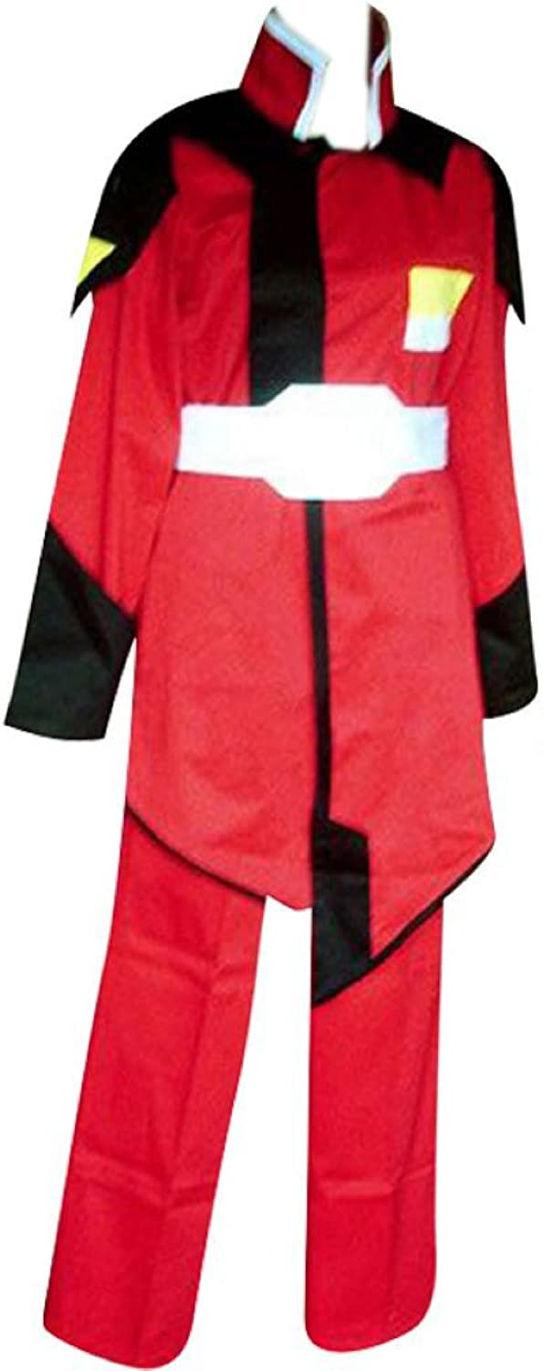 Dream2Reality Japanese Anime Gundam Seed Cosplay Costume - ZAFT Military Male Uniform Red Kid Size Large