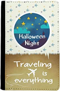The Sky of Halloween Night Traveling quato Passport Holder Travel Wallet Cover Case Card Purse