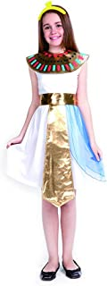 Girls Cleopatra Egyptian Queen Costumes-Child Kids Halloween Christmas Party Cosplay Egypt Fancy Dress with Headband (M) G...