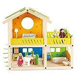 Hape - Casa pequeña de muñecas de madera