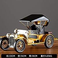 レトロなノスタルジックなクラシックカー、アメリカンヴィンテージカーアイアンモデル、クリエイティブなデコレーション、ホームデコレーション
