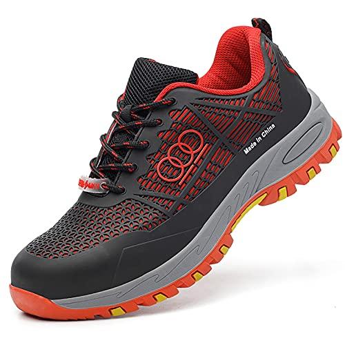 Zapatos de trabajo Entrenadores de seguridad de la gorra de punta de plástico de 2021 hombres - Respirable de verano TPU + Zapatillas de malla baja de malla - transpirable 6KV Aislamiento eléctrico pu