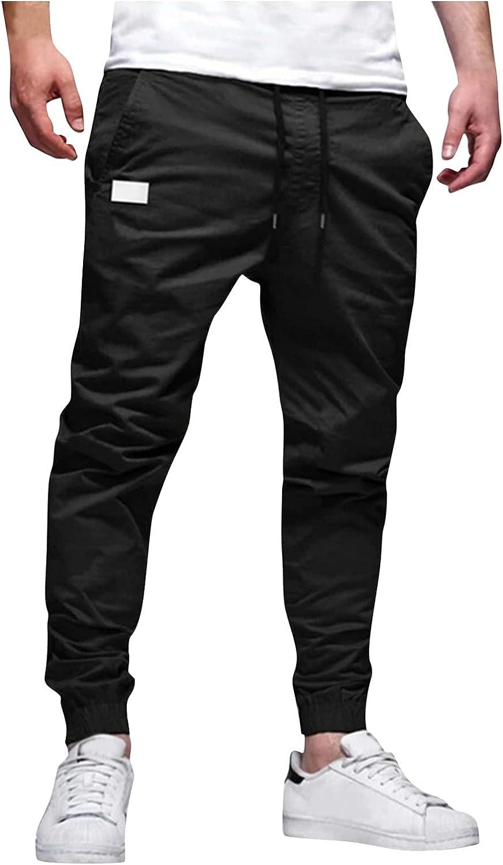 Mens Cargo Pants Casual Workout Athletic Cotton Blend Sport Gym Pants Sweatpants Trousers