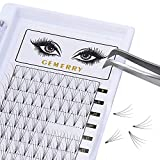 4D Eyelash Extensions, 0.07mm D Curl Mega Volume Lash Extensions 8-14mm Mixed Premade-Fans Cluster Prefanned Silk Professional Knot Free by GEMERRY