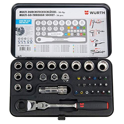 Würth Durchsteckschlüssel Set und Multiprofil Sortiment 36 Teile