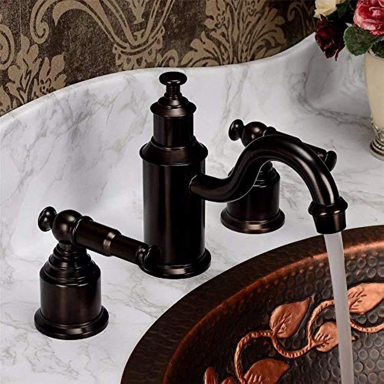 Oudan Küchen-Mischbatterie Antique schwarz Antique Brass Brushed Kitchen Sink Waschtischarmatur mit heiem und kaltem Wasser (Farbe   -, Gre   -)