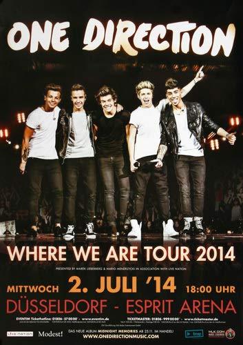 One Direction - Where We Are, Düsseldorf 2014 » Konzertplakat/Premium Poster | Live Konzert Veranstaltung | DIN A1 «