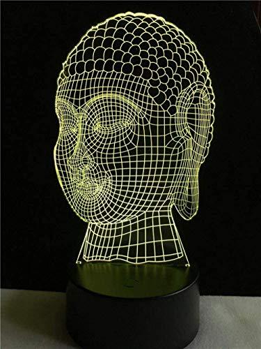 Creativo 3D Luz Religion Respeto Budismo Buda Iluminacion Amigos Regalo Led Estado De Ánimo Interruptor Luz Nocturna Multicolor Escritorio Mesa De Comedor Decoracion