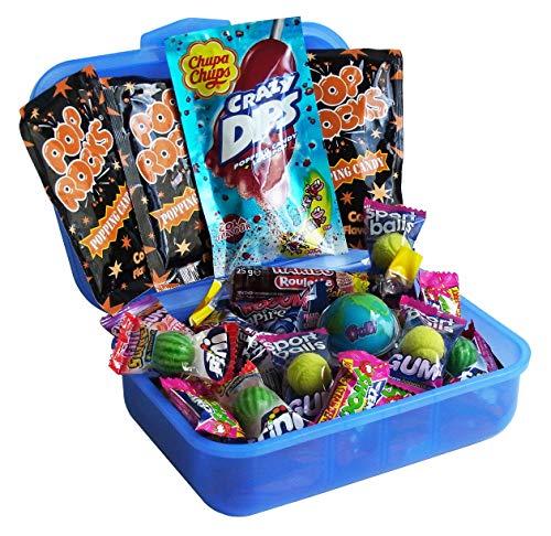 Geschenk Set Brotdose Schulanfang mit Süßigkeiten (37-teilig)
