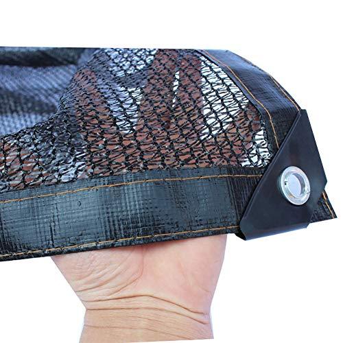 Tela de sombra 50-60% Borde Negra con Ojales, Malla Resistente A Los Rayos UV Pantalla Solar Resistente para Plantas De Flores De Jardín (Size : 3x4m)