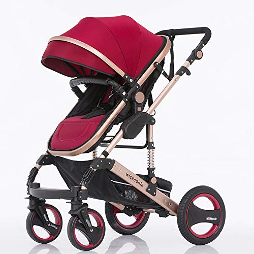Best Deals! Cylficl Baby Stroller High Landscape Can Sit and Fold Two-Way Push Stroller (Color : E)