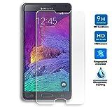 Protector de Pantalla para Samsung Galaxy Note 4 Cristal Vidrio Templado Premium, Electrónica Rey