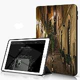 Funda para iPad 9.7 para iPad Pro 9.7 Pulgadas 2016,Patio antiguo italiano Roma Italia Cafe Sillas Ciudad Casas históricas en la calle,,incluye soporte magnético y funda para dormir/despertar