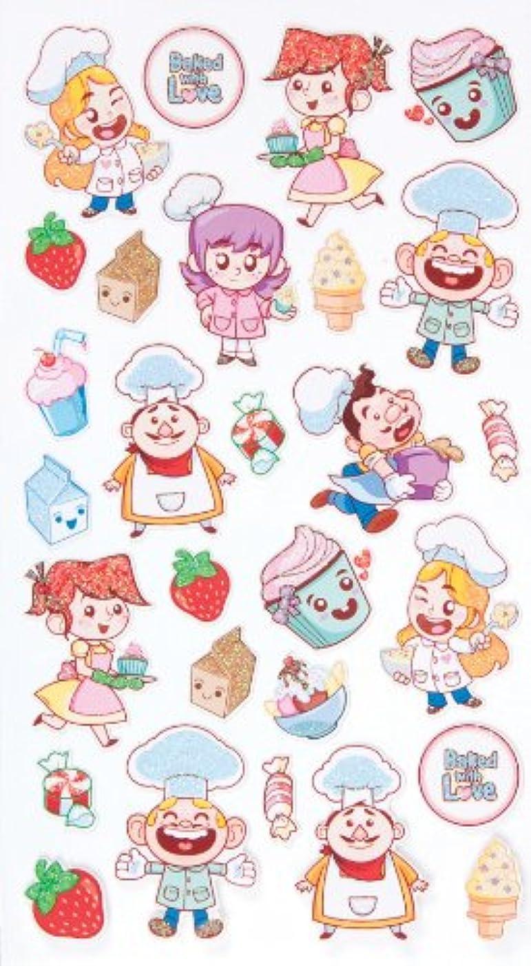 EK Success Brands Decorative Sticko Stickers, Baking Friends