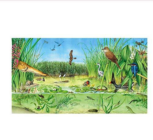 YKCKSD Die Süßwasserteiche Adult Paper Puzzle 1000 Teile Ökosystem Puzzle Exquisite handgemalte Puzzles Geschenke
