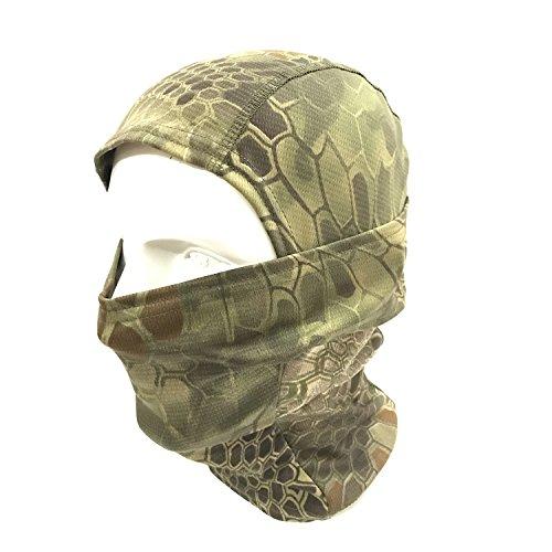 WorldShopping4U Ninja Hood Camouflage Balaclava Tactical Airsoft Outdoor Caccia Flessibile Full Face Mask Protettivo (BG)