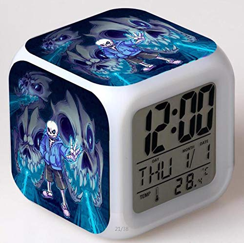 Zhuhuimin LED wekker vierkant digitale klok wekker/tafelklok L projectie nachtlicht wekker kind verjaardagscadeau horloge
