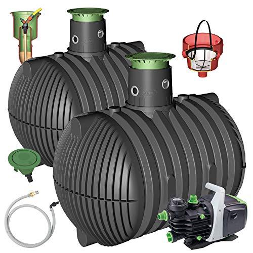 GRAF Regenwasser-Erdtank Carat Regenwassertank Zisterne Wassertank Garten-Jet, 13.000 L begehbar