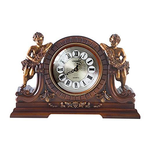 SESO UK- Antike Uhr, Europäische Stille Quarzuhr Dekor Wohnzimmer Schlafzimmer (Color : Simple)