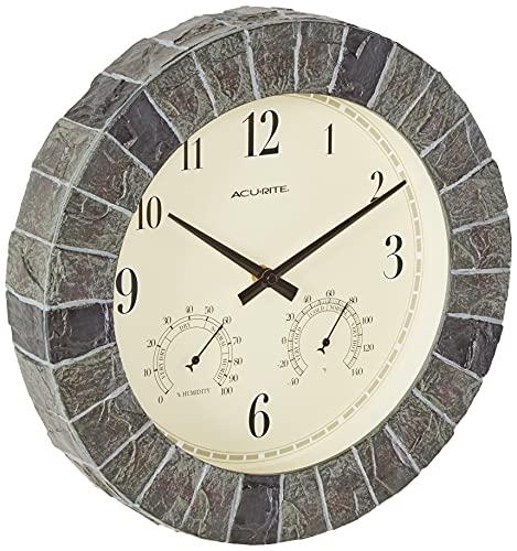 AcuRite 02418 14-Inch Faux-Slate Indoor/Outdoor Wall Clock