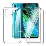 LJSM Cover per Huawei Honor 20e Trasparente + [3 Pezzi] Pellicola Protettiva in Vetro Temperato...