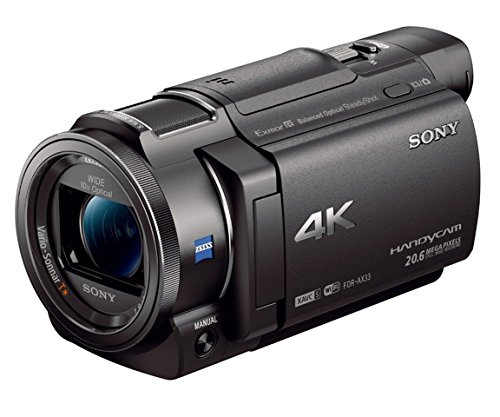 Sony 4K HD Video Recording FDRAX33 Handycam Camcorder