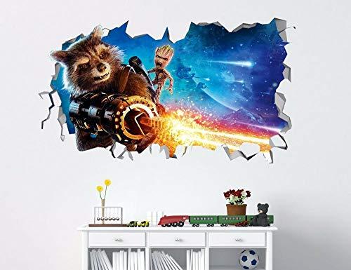 SHUBING Baby Rocket raccon Guardians of the Galaxy 3D wall decal sticker vinyl
