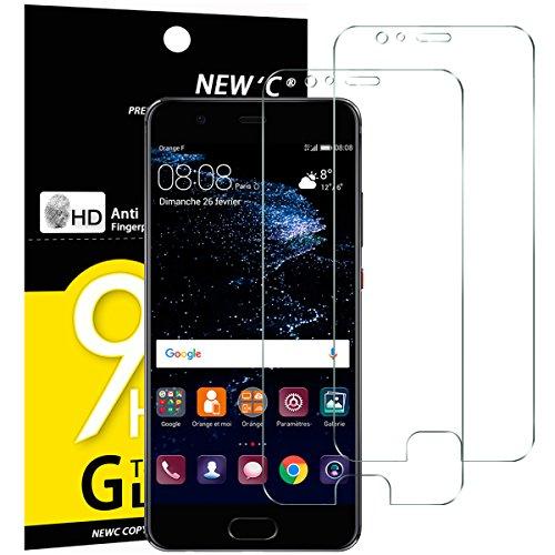 NEW'C 2 Stück, Schutzfolie Panzerglas für Huawei P10 Plus, Frei von Kratzern, 9H Festigkeit, HD Bildschirmschutzfolie, 0.33mm Ultra-klar, Ultrawiderstandsfähig