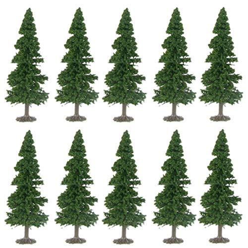 ColiCor 10St. 15cm Bäume Modellbaum Set Baum Gemischt Modell für Mini Landschaft Landschaftsgestaltung