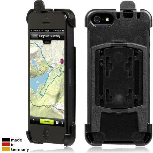Wicked Chili Halteschale für Apple iPhone SE / 5S / 5 für Vent Mount Lüfterhalterung, Bike Mount Fahrrad Halter und KFZ Autohalterung (Made in Germany) schwarz