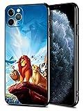 for iPhone 11 Pro Max Case TPU Soft Bumper Hard PC Slim Protective Back Cover 6.5-Inch (Simba Lion Nala Pumbaa Rafiki)