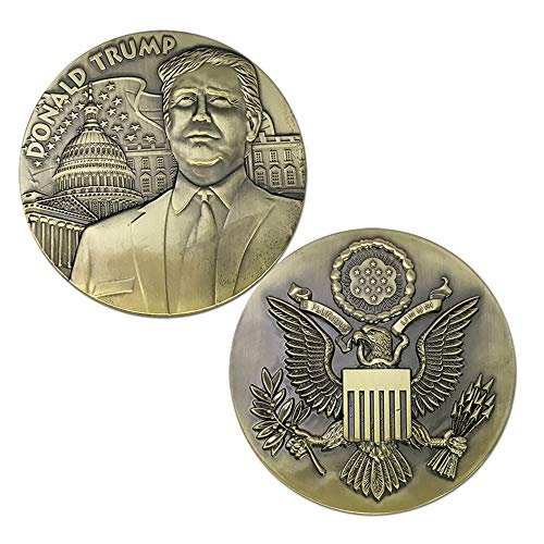 WWJ Trump Commemorative Coin / 45th Us President Trump Cross Bronce Co