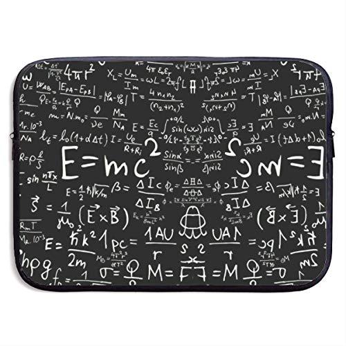 Laptop Sleeve Bag Math Class Formule vergelijkingen - 15 Inch Polyester Aktetas Draagtas Compatibel voor Notebook/Ultrabook, Lichtgewicht Computer Ritszak Ideaal voor Work College