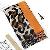 New Women Shawl Wrap With Tassel Animal Leopard Print Cashmere Pashmina Scarf Winter Foulard Femme Scarf