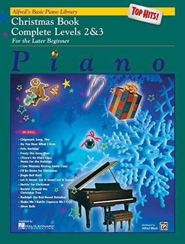 Alfred's Basic Piano Library Top Hits! Christmas Complete, Bk 2 & 3: For the Later Beginner