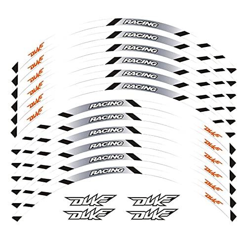 wjyfexble Etiqueta de la Rueda de la Motocicleta Pegatina Remolque Reflectante Rim Compatible con KTM Duke 125 250 390 790 1290 WYJHN (Color : 2)