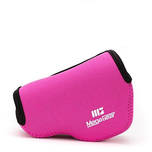 MegaGear Capa de Neoprene Ultra Leve Compatível com Sony Alpha A6100, A6400, A6500, A6300, A6000 (16-50 mm), Hot Pink