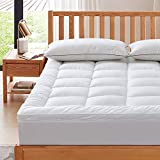 SUFUEE Mattress Topper Twin 400TC Cotton Mattress Pad with Deep Pocket - Extra Thick 2' Thick Quilted Pillow Top Down Alternative Fill
