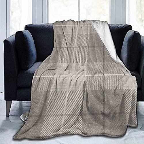 Manta retro gris cuadrada ultra suave de micro forro polar para cama, sofá, sala de estar, playa, picnic, otoño, primavera, invierno
