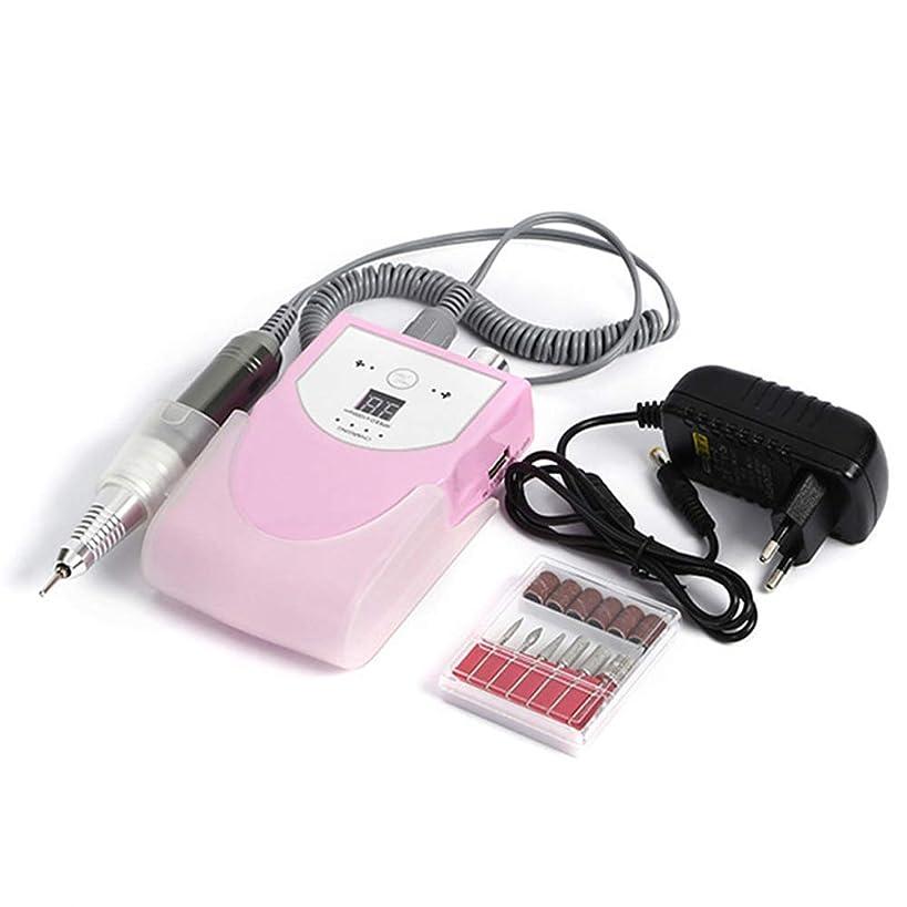 アルカトラズ島相互助手30000 rpmポータブル電気ネイルドリルマシンマニキュア充電式コードレスマニキュアペディキュアセット用ネイル機器、ピンク