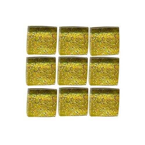 MosaixPro 10x 10x 4mm 200g 215-piece Fliesen Glas Glitzer, Gold
