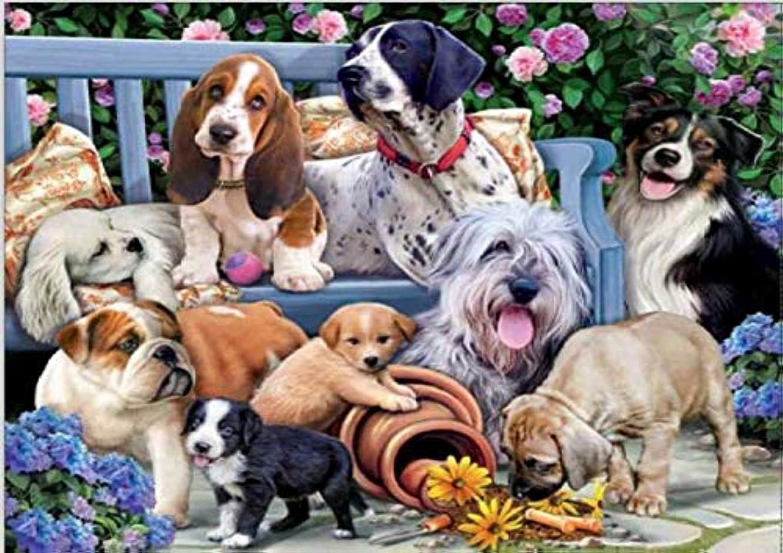 KOTWDQ Large Premium Full 5d Diamond Painting Kits for Adults Full Drill Dogs Cross Stitch Arts Craft Canvas Wall Decor,16x20inch