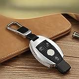 QWASDFG Carcasa De Llave De Coche Diamond Auto Key Shell Car Smart Key Case Cover, para Mercedes Benz A/B/C/E/Ml/GL/S/Gla/Glk/CLS/Cla W204 W205 W212 Negro con Llavero