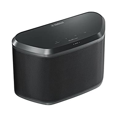 Yamaha WX-030BL MusicCast Wireless Speaker with Wi-Fi and Bluetooth (Black), Works with Alexa
